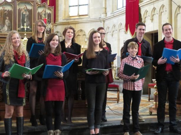 Alegria zingt voor kerstmis