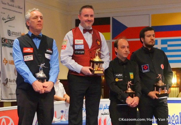Frédéric Caudron wint slottoernooi WB driebanden in Hurghada