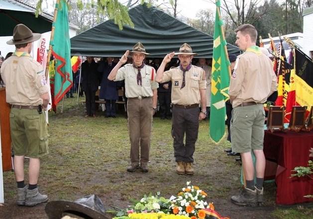 Kampse Patriot  brengt hulde aan 3 oud-scouts