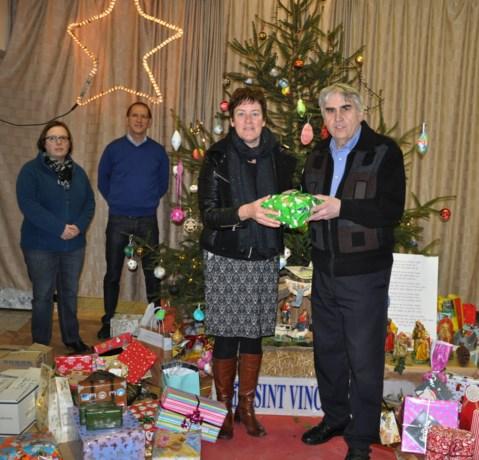 Inzameling kerstgeschenken voor Sint-Vincentius