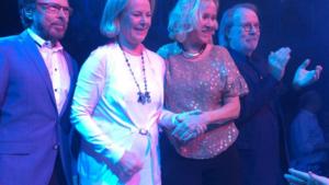 Vier ABBA-leden nog eens samen in het openbaar