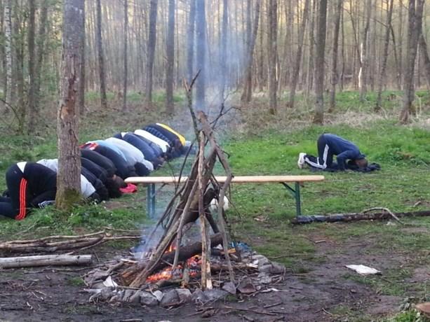 Training salafisten in Ardennen