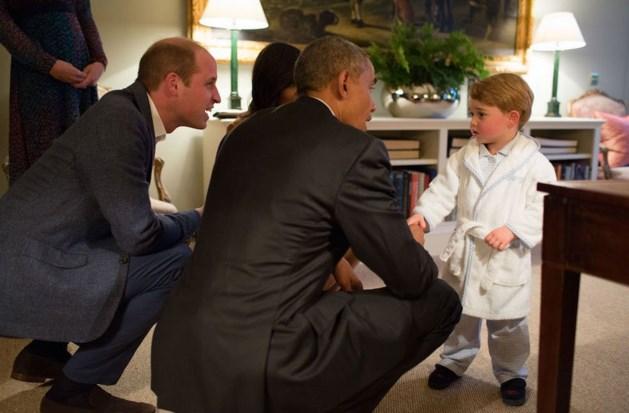 Prins George ontmoet president Obama... in pyjama