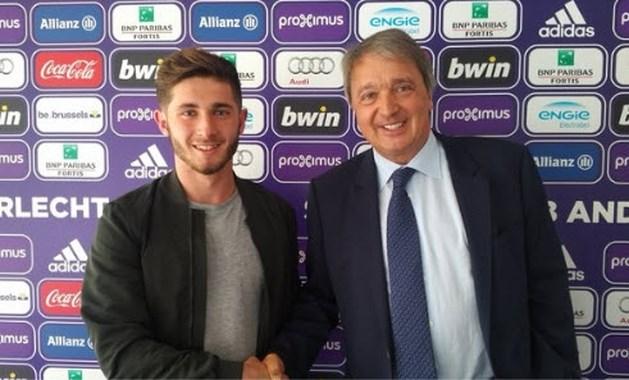 Anderlecht geeft Antoine Bernier (18) profcontract