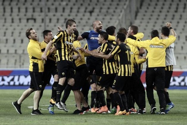 AEK troeft Olympiakos af en wint Griekse beker (in leeg stadion)