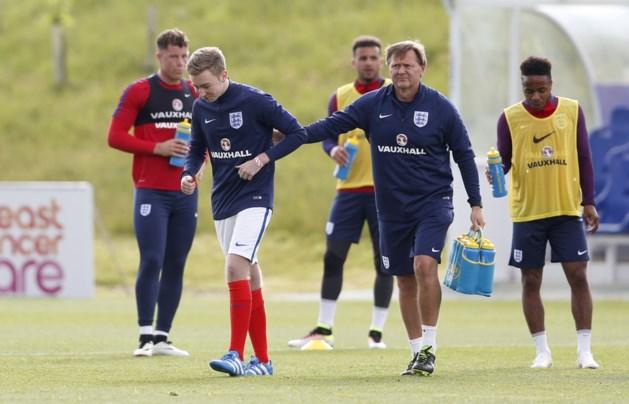 Grapjas glipt mee op training van Engelse nationale ploeg