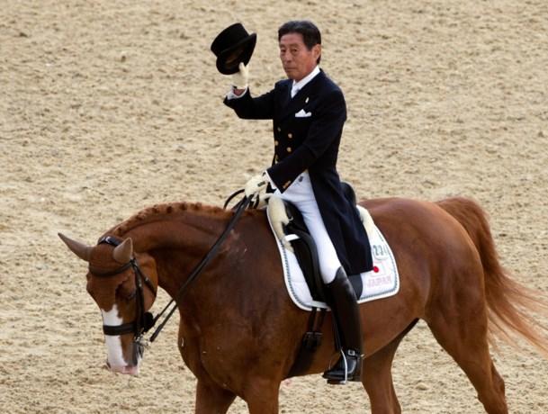 Japanse ruiter Hoketsu (75) zal in Rio geen leeftijdsrecord breken