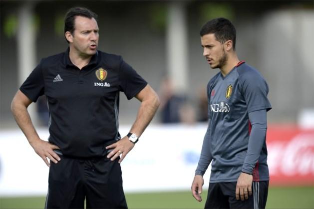 """Wilmots: """"Ik verwacht dat Hazard beslissend is op het EK"""""""