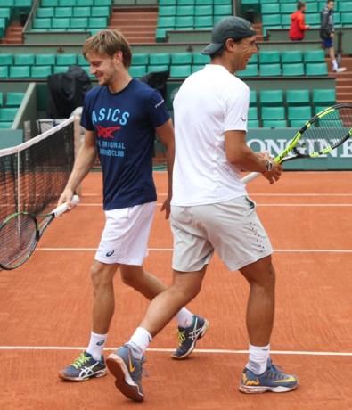 David Goffin traint twee uur met Nadal op gravel van Roland Garros