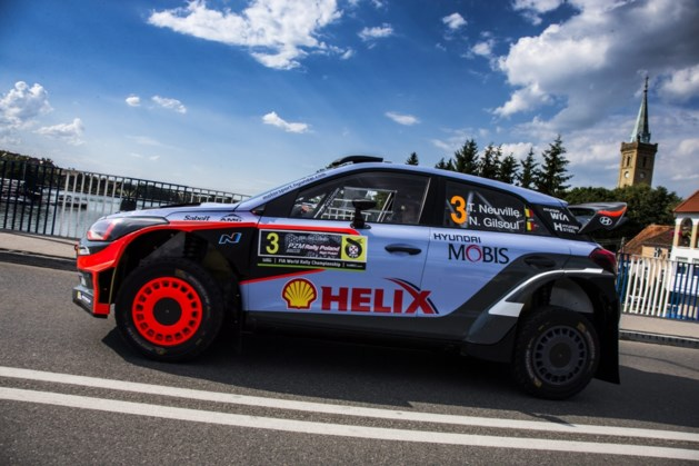 Thierry Neuville 4e in shakedown Rally van Finland