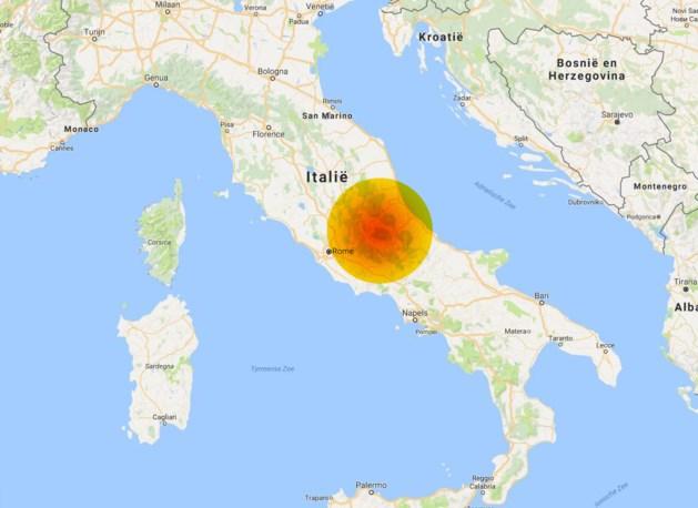 KAART. In deze regio's voelden onze lezers de aardbeving