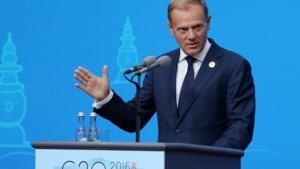 Tusk: 'Vluchtelingenopvang in EU dicht bij limiet'