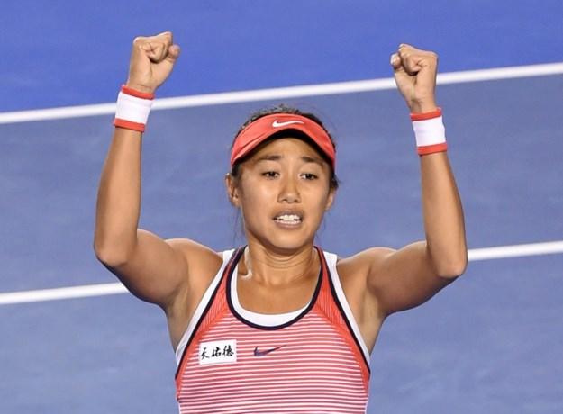 Shuai Zhang als eerste naar halve finales in WTA Elite Trophy