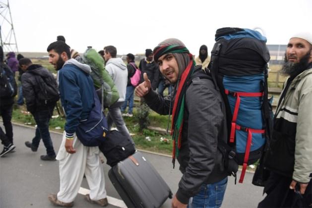 Vluchtelingen vluchten weg uit Limburg
