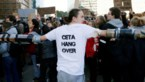 Meer dan 200 jongeren manifesteren tegen CETA op Luxemburgplein