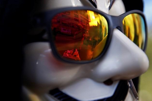 Hackerscollectief betoogt in Brussel naar aanleiding van Guy Fawkes-day