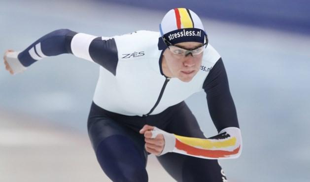 Bart Swings schaatst op 5.000 meter in Harbin tegen Duitser