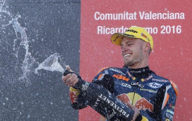 Brad Binder wint slotmanche in Moto3, Livio Loi wordt vijftiende in Valencia