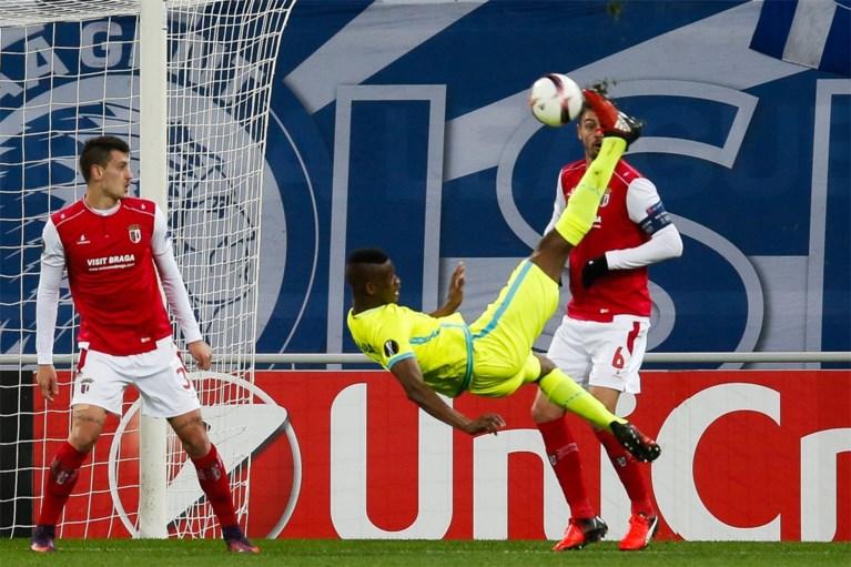 AA Gent heeft lot niet meer in eigen handen na gelijkspel tegen Braga