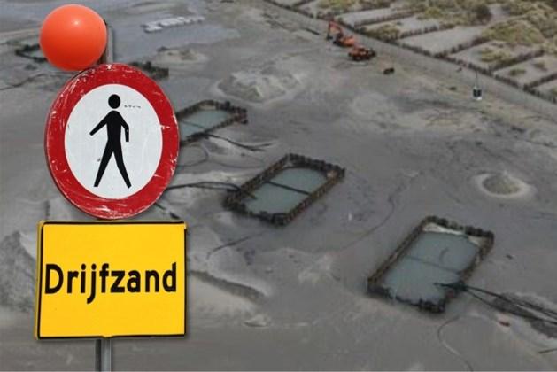 Politie waarschuwt voor drijfzand aan Belgische kust