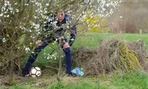VIDEO. Thomas Buffel en co wagen zich aan partijtje 'footgolf'