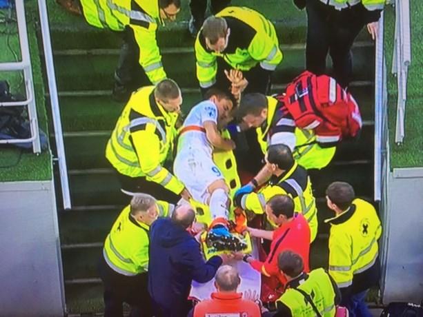Weer pech voor Club: Jelle Vossen afgevoerd met ziekenwagen