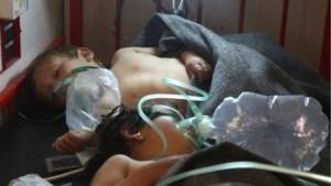 Syrisch dorp van gifgasaanval opnieuw gebombardeerd