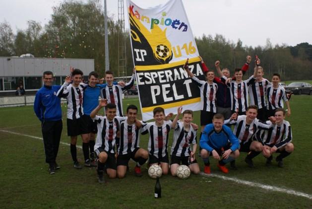 Interprovinciale U16 Esperanza Pelt is kampioen