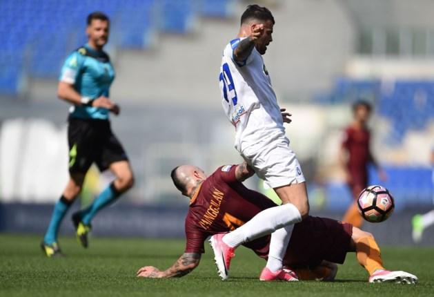 Nainggolan en Roma verspelen dure punten tegen Atalanta en zien Juventus verder uitlopen