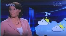 Weerpraatje loopt mis en dat is duidelijk te merken aan het gezicht van Jill