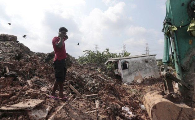 Zestien doden bij instorten van een afvalberg in Sri Lanka