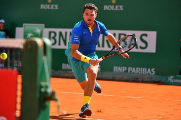 Na Murray haalt ook Wawrinka kwartfinales in Monaco niet