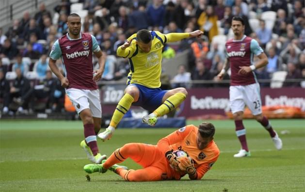 Lukaku komt niet tot scoren, West Ham en Everton delen de punten na flauwe partij