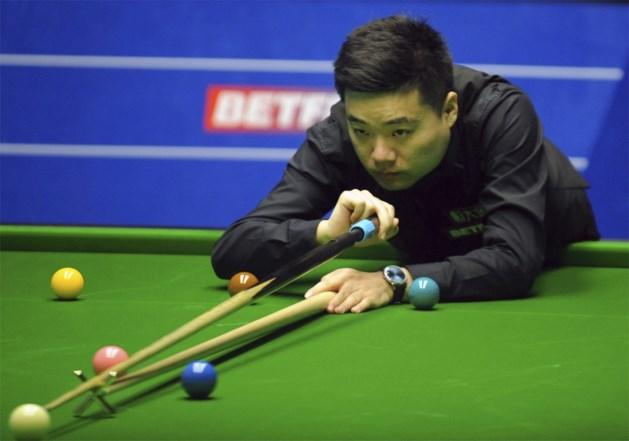 Ding Junhui met hakken over de sloot naar kwartfinale tegen O'Sullivan op WK snooker