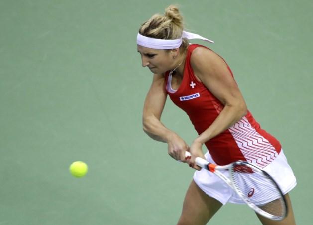 Zwitserland en Wit-Rusland houden mekaar in evenwicht in halve finales Fed Cup
