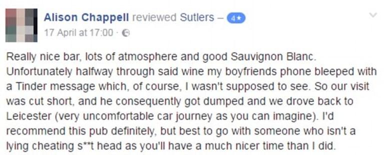 Vrouw ontdekt op restaurant dat haar vriend haar bedriegt, maar neemt dan op geniale wijze wraak