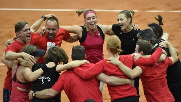 Tennismeisjes stunten en kloppen Rusland in barrages Fed Cup