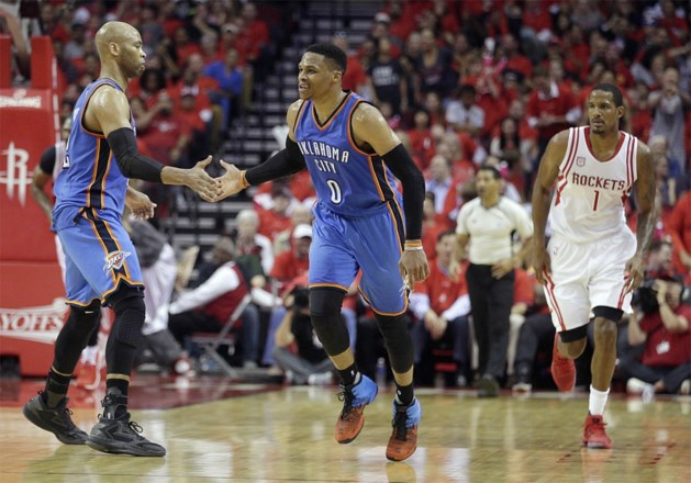Historisch sterke Westbrook ligt met Oklahoma City toch uit NBA play-offs