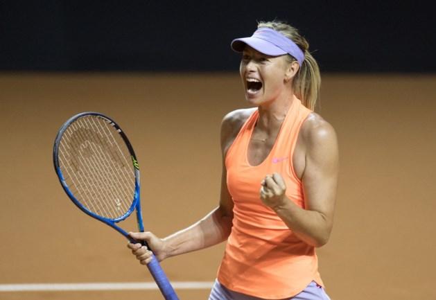 Maria Sharapova wint ook tweede wedstrijd na terugkeer