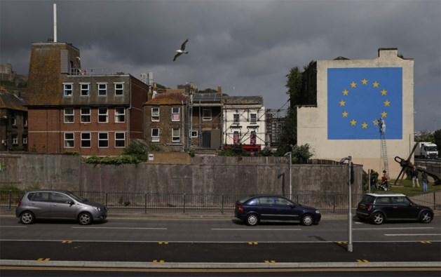 Beroemde straatkunstenaar Banksy laat zich inspireren door de Brexit