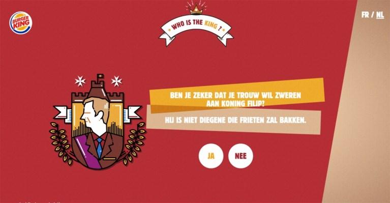 Paleis kan niet lachen met reclamecampagne van Burger King