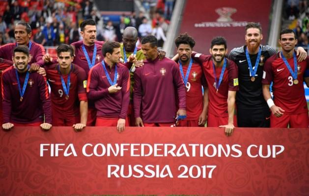 Portugal wint kleine finale Confederations Cup na felbevochten zege tegen Mexico