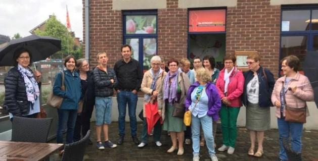 Vrijwilligers wereldwinkel Bilzen te gast in Stroopfabriek Borgloon