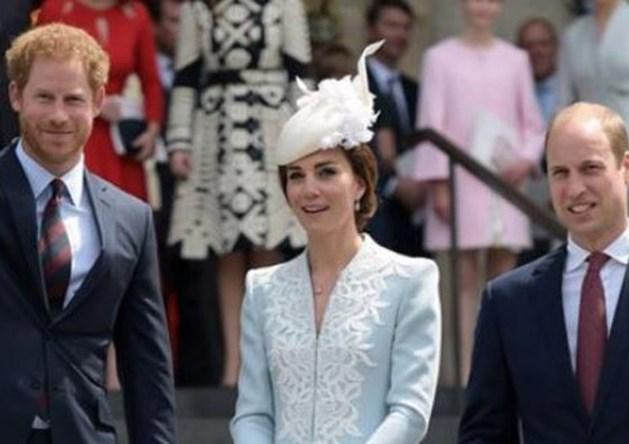 Prins William, prins Harry en Kate herdenken Diana
