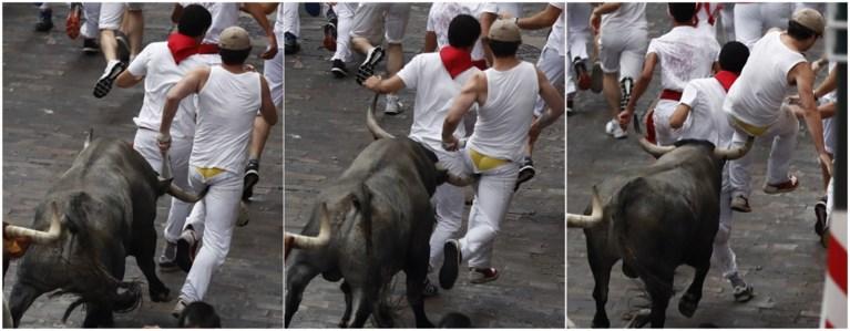 Tien gewonden zaterdag bij stierenloop in Pamplona