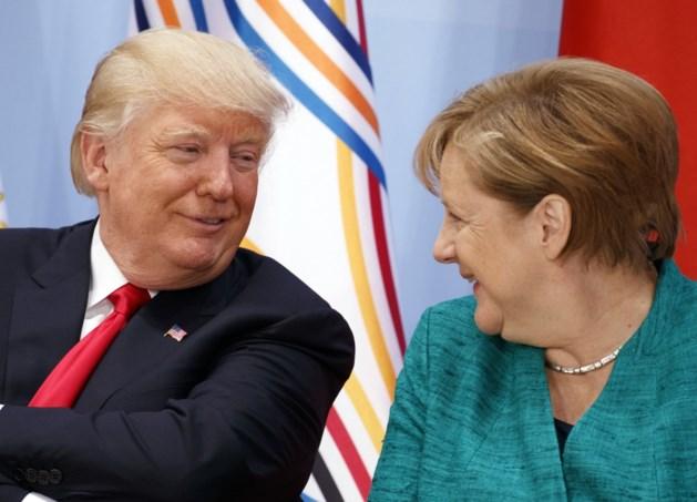 """Trump spreekt lovende woorden over Merkel: """"Ongelofelijk en inspirerend"""""""