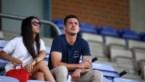 Yannick Thoelen in tribune voor oefenmatch STVV