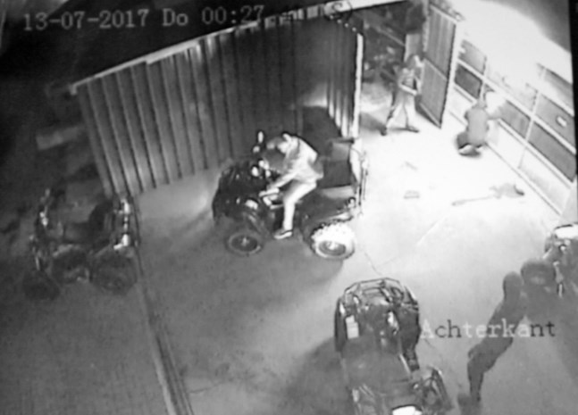 Quaddief gearresteerd na achtervolging