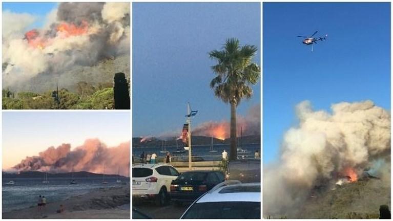 """Limburgers op 500 meter van bosbranden in Côte d'Azur: """"Ze zijn ons vannacht komen wakker maken"""""""