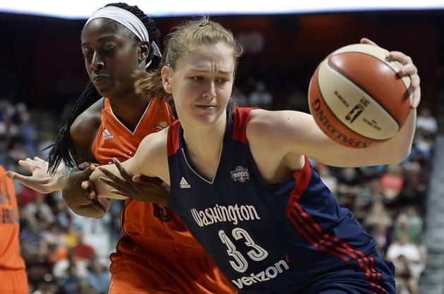 Emma Meesseman (16 ptn) wint in WNBA met Washington Mystics bij San Antonio